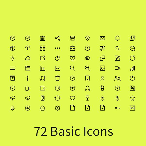 72 Basic Icons